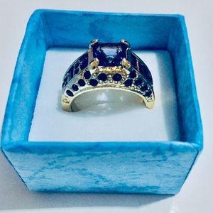 ⭐️10K Gold filled Purple stone ring